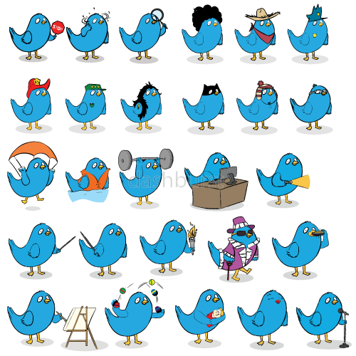 The ultimate blue bird character set!