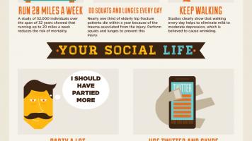22 Ways to Live Longer - Infographic
