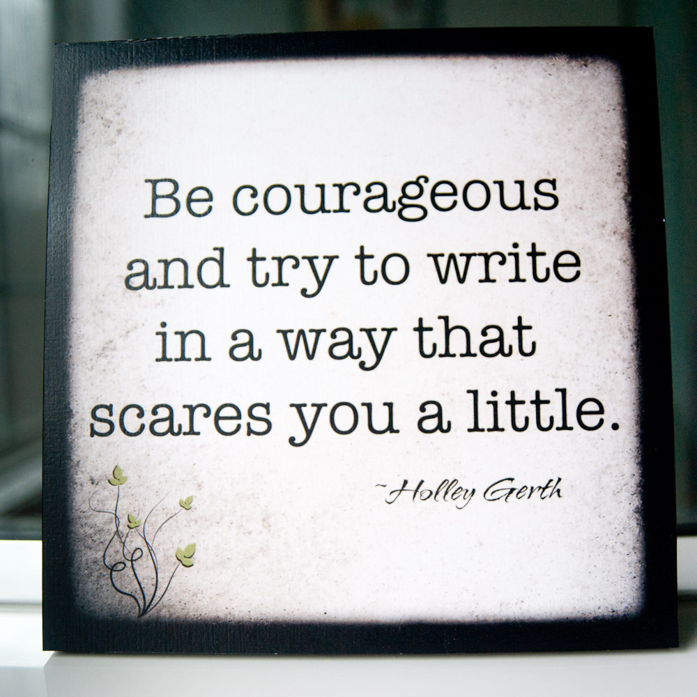 write courageous