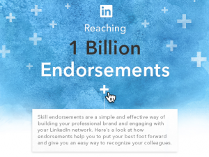 LinkedIn Touts 1 Billion Endorsements