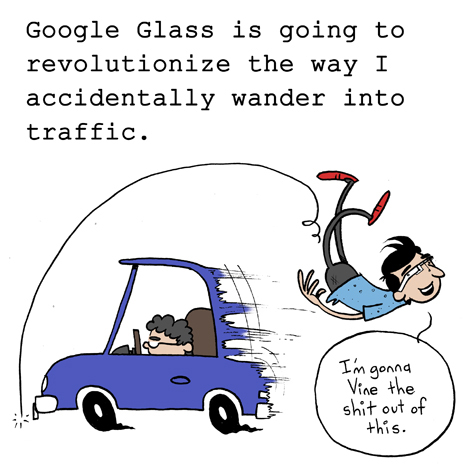 google glass traffic
