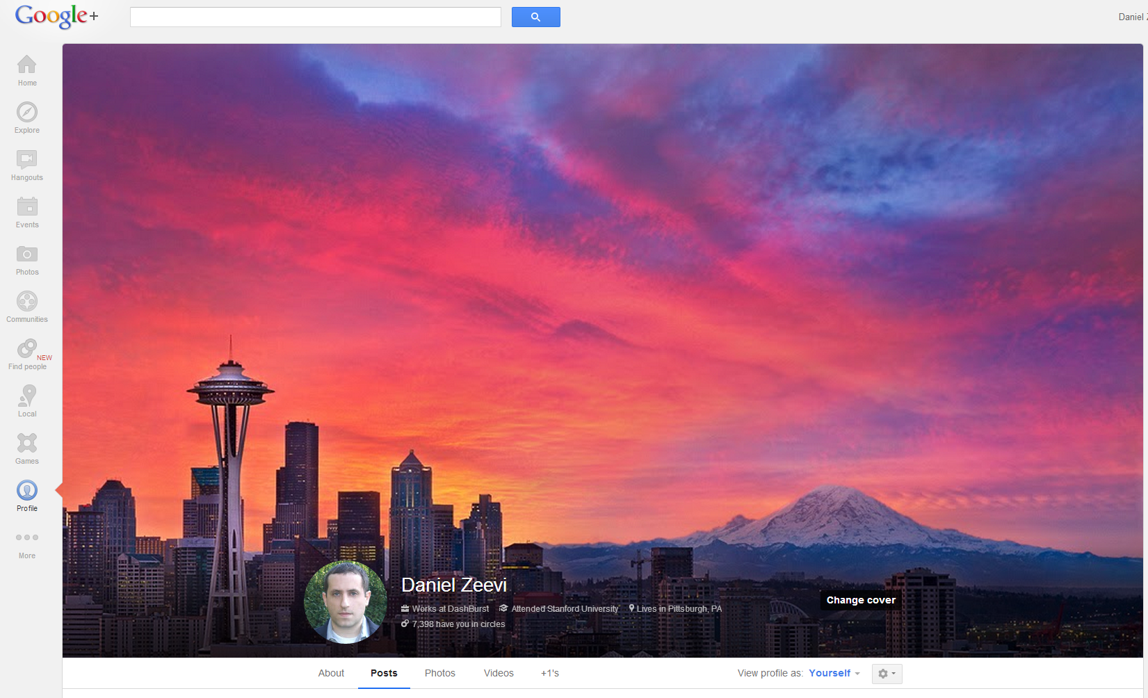 google+ cover photo