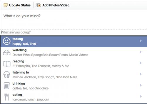 facebook feelings