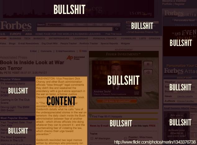 content vs. bullshit