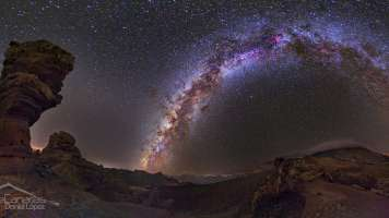 Milky Way and Stone Tree