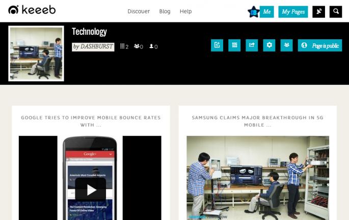 Keeeb Page DashBurst Technology
