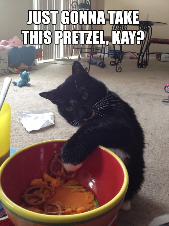 mind if I grab a pretzel?
