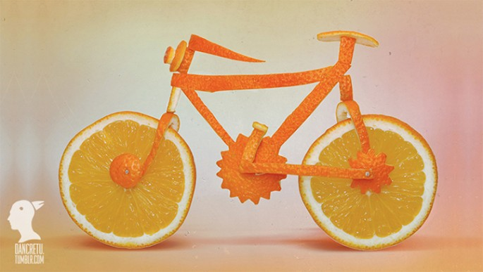 orange peel bike