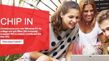 Microsoft Chip In website header