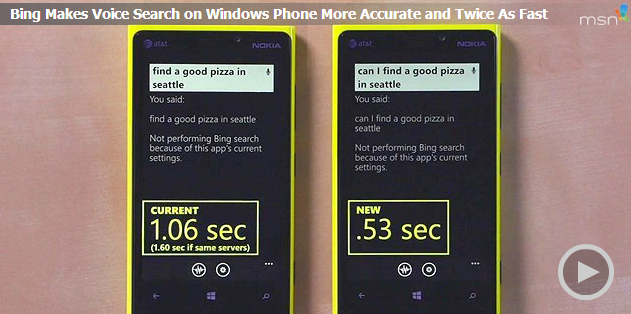 bing voice search devices