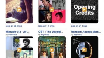 Screenshot of Minilogs playlists