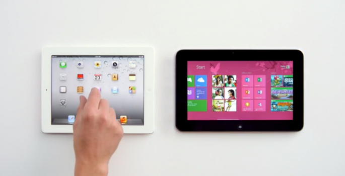 Screenshot of Microsoft Dell Tablet Ad - Pinch-to-zoom