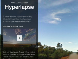 Screenshot of Google Street View Hyperlapse video creator