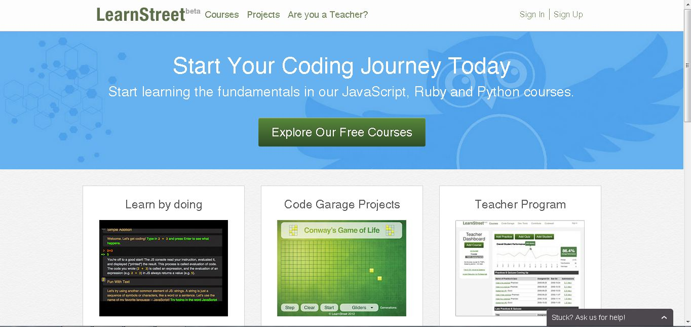 Learnstreet courses