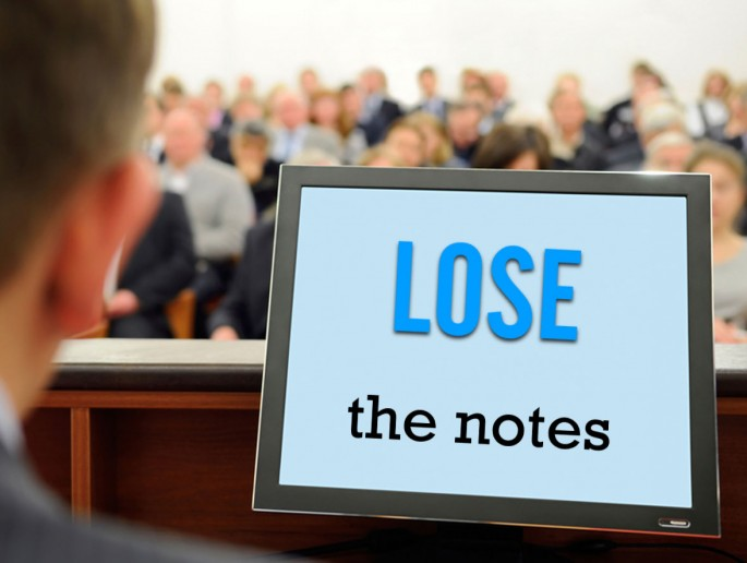 lose the notes