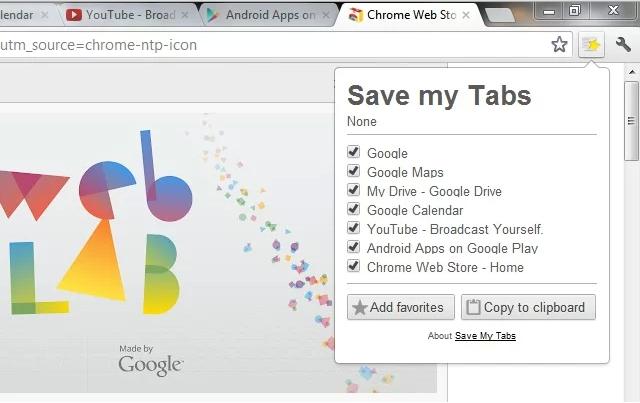 save my tabs