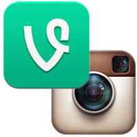 Vine and Instagram logos