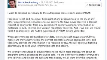 zuckerberg prism denial