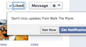 Facebook notification prompt
