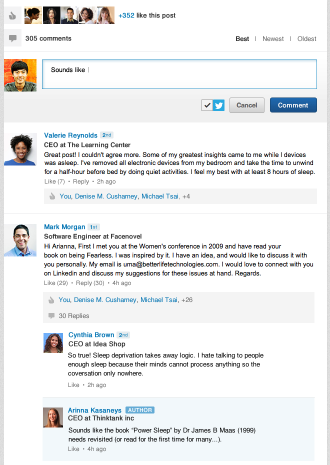new LinkedIn influencer comments features