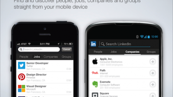 Screenshots of LinkedIn's mobile apps