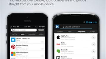 Screenshots of LinkedIn's mobile apps