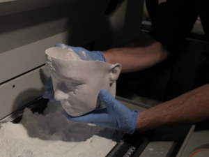 Strange Visions 3d printed face sculpture