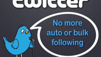 twitter prohibits auto or bulk following