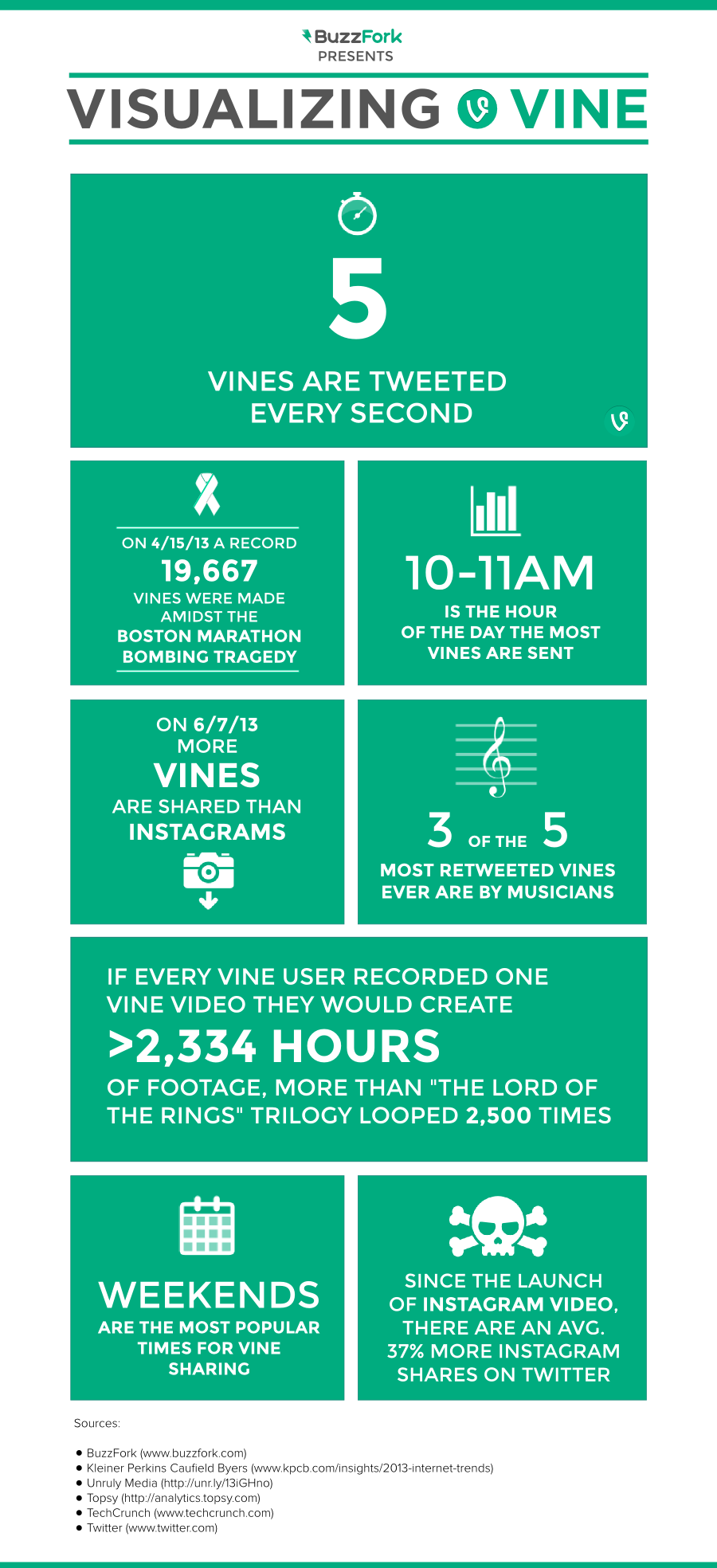Visualizing vine infographic