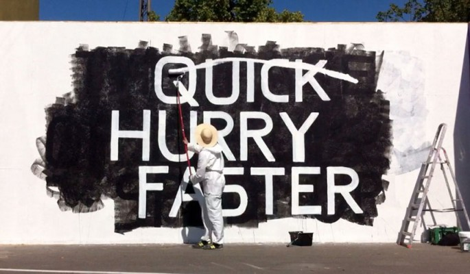 Quick hurry faster social media culture