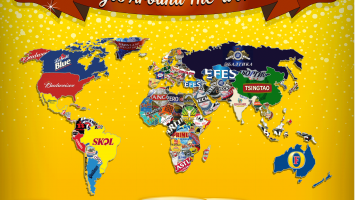 Map of most popular beers around the world