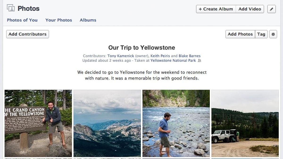 screenshot of a shared photo album on Facebook