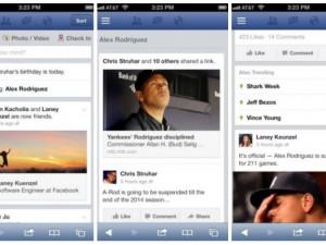 Facebook trending topics screenshots