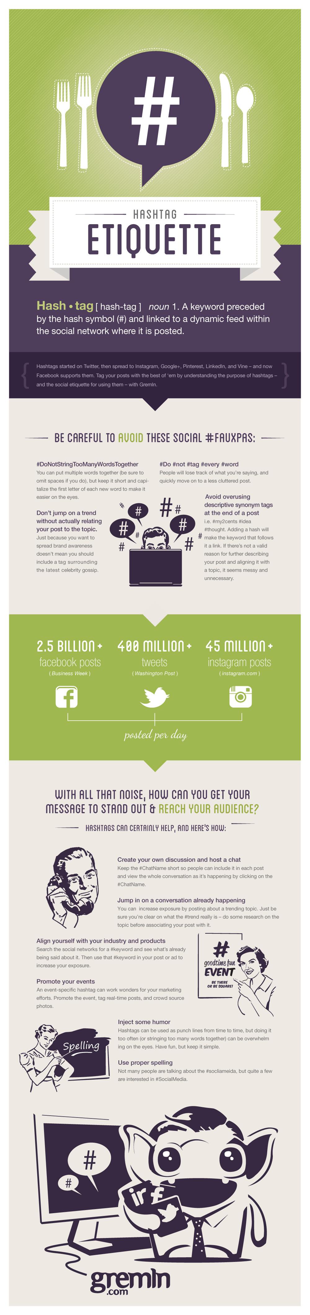 hashtag etiquette infographic