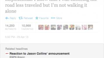 Jason Collins tweet