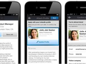 Screenshot of LinkedIn job apps on mobile