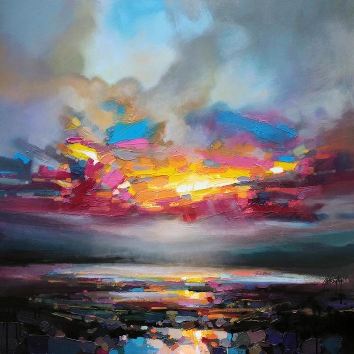 Colorful Reinterpretations of Smeared Scottish Landscapes