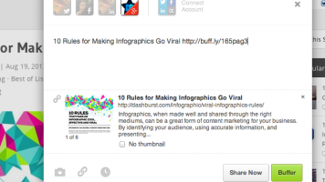 Screenshot of Buffering to the DashBurst Google+ page