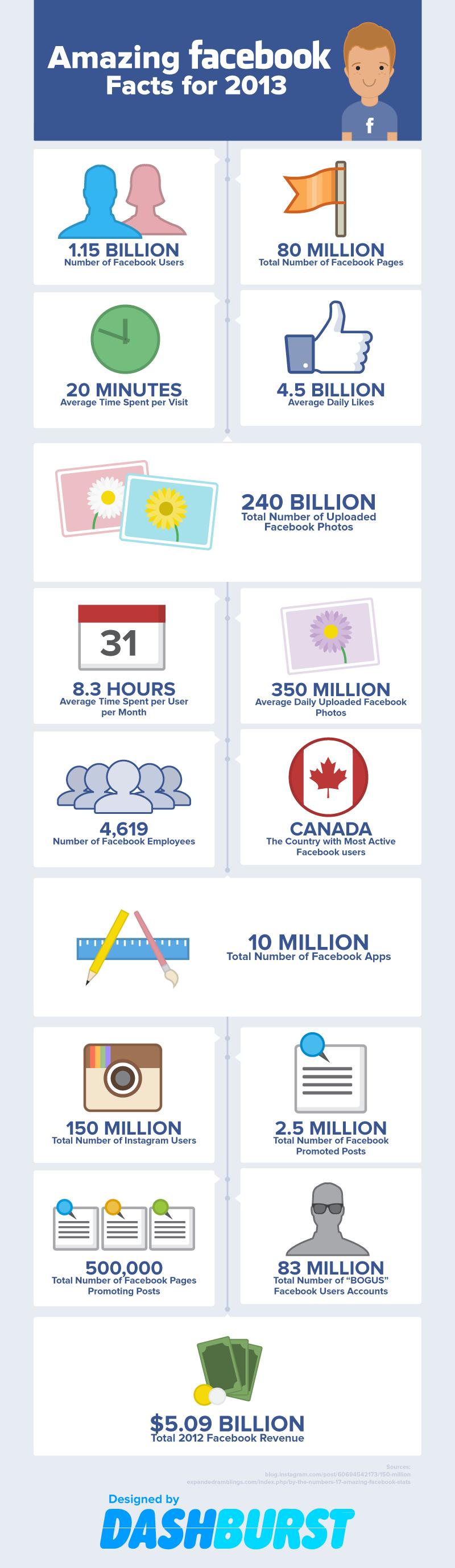 Facebook Stats 2013
