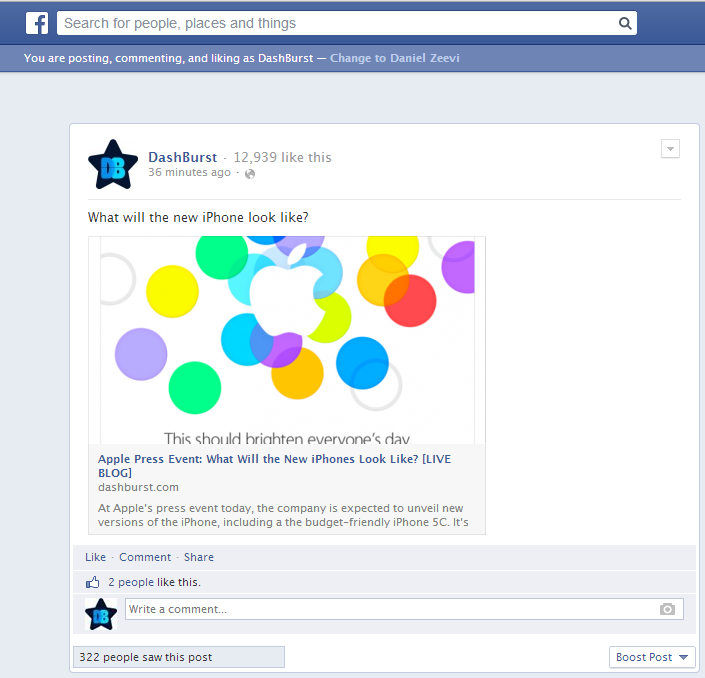 Facebook Experiments With Large Image Previews for Links Shared by Pages