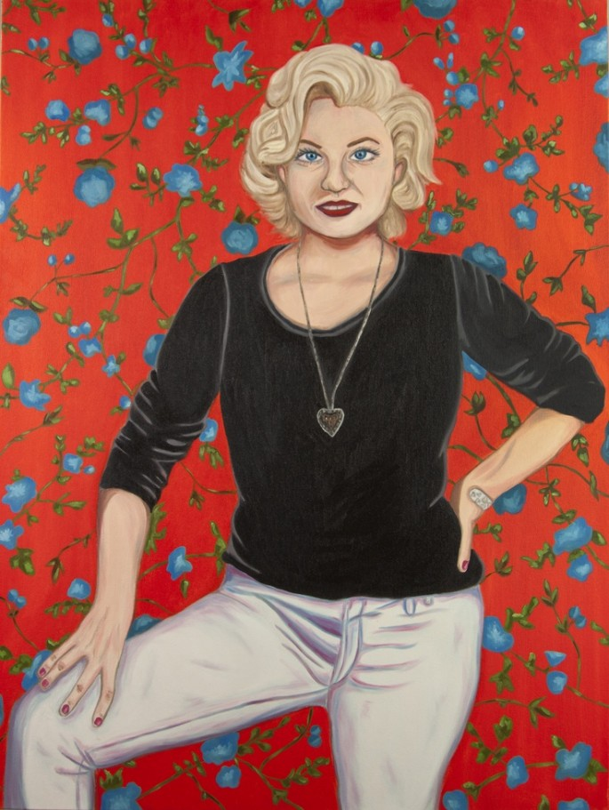 Self portrait as Marilyn Monroe