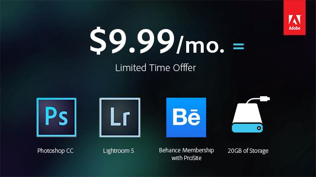 Adobe Photoshop Photography Program advertisement