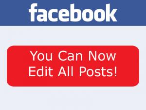 edit facebook posts