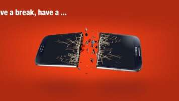 Nokia KitKat parody on Twitter: Have a break, have a broken Samsung Nexus phone