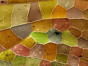 Multi-colored geometric shapes