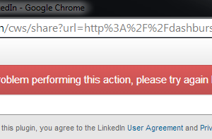 LinkedIn Sharing Error