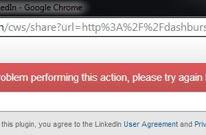 LinkedIn Sharing Error