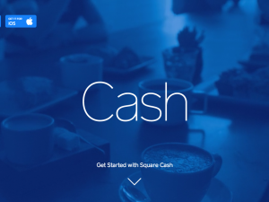 Screenshot of the Square Cash landing page