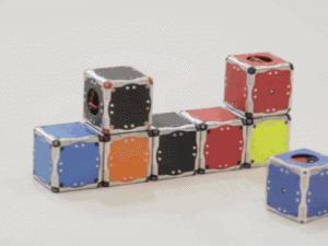 GIF of M-Blocks self-assembling robots