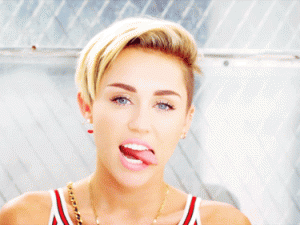 Miley Cyrus tongue gif